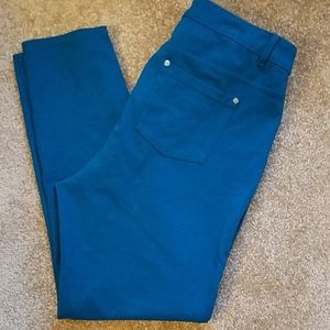 Plus size 18 turquoise pants with stretch